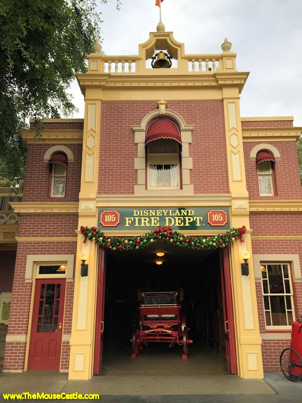 Disneyland Fire Department with Walt's apartment above