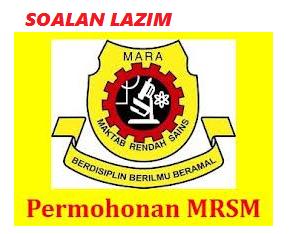 Permohonan Kemasukan Ke MRSM