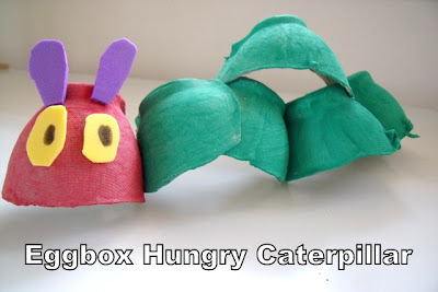 The Very Hungry Caterpillar Egg Carton Model