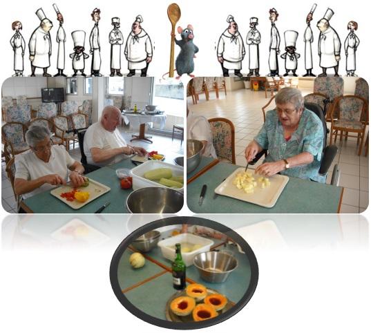 Animation ehpad vic le comte 63 repas th rapeutique la ratatouille - Cuisine therapeutique ehpad ...
