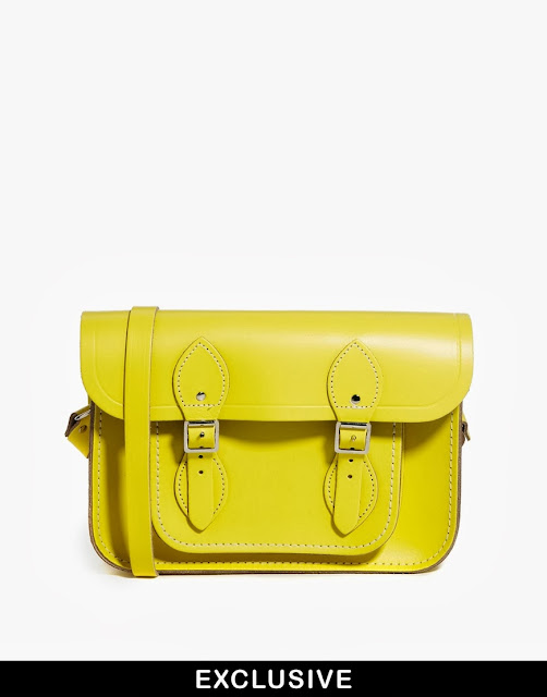 yellow cambridge satchel