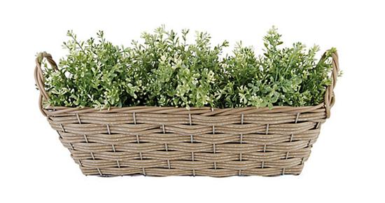 "19"" Planter Basket w/ Handles via #onekingslane"