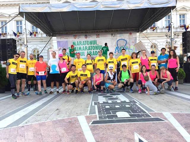 Maseur oficial la Maraton Arad 2015. O nouă participare, un nou rol, acelaşi eveniment frumos de alergare. Echipa Timişoara