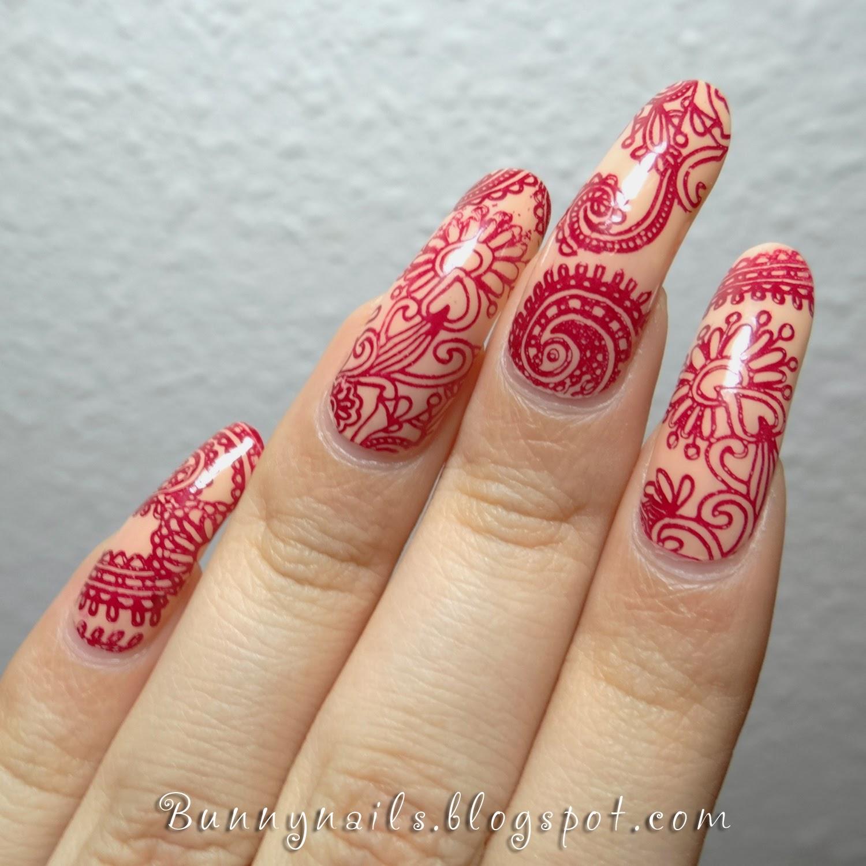 Henna Tattoo Inspired Nail Art - Bunny Nails: Henna Tattoo Inspired Nail Art