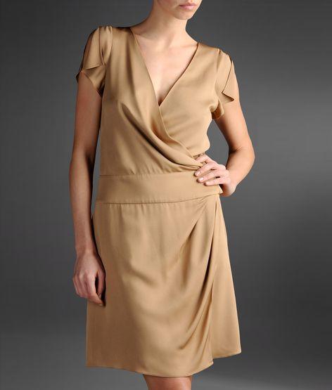 Emporio Armani Abiye Elbise kısa bej elbise