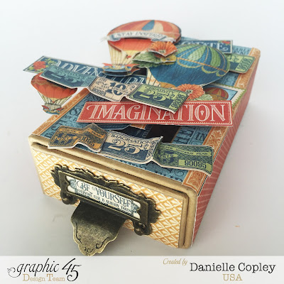 scrapbookmaven.com Graphic 45 World's Fair Pop-Up Matchbox Gift Card Holder