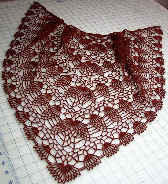 Crochet Lace Weight Shawl Pattern : Source
