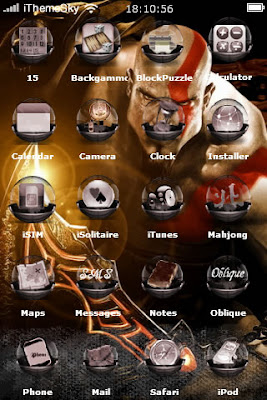 Free Download God Of War III For IPhone Theme Main Features Wallpaper Apps Icons Compatible IDevices 3GS 3G IPod Touch 3 2
