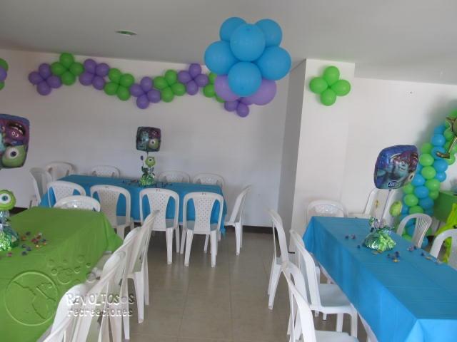 DECORACION CON GLOBOS MONSTER INC MEDELLIN |Fiestas infantiles y ...