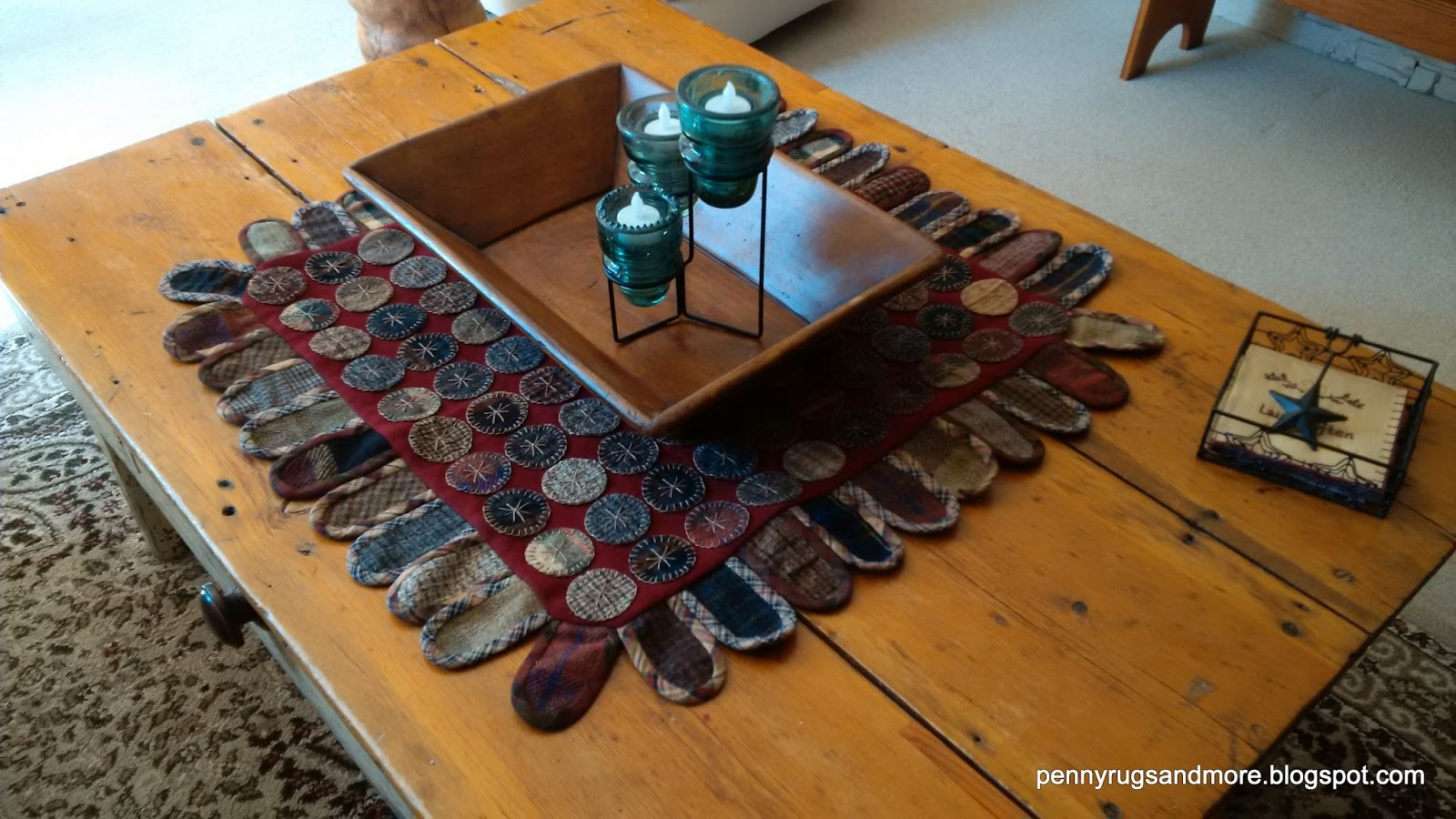 Penny Rugs And More Plaid Tongue Rug Tutorial