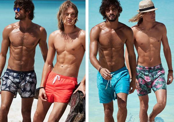 bañadores y complementos playa hombre H&M