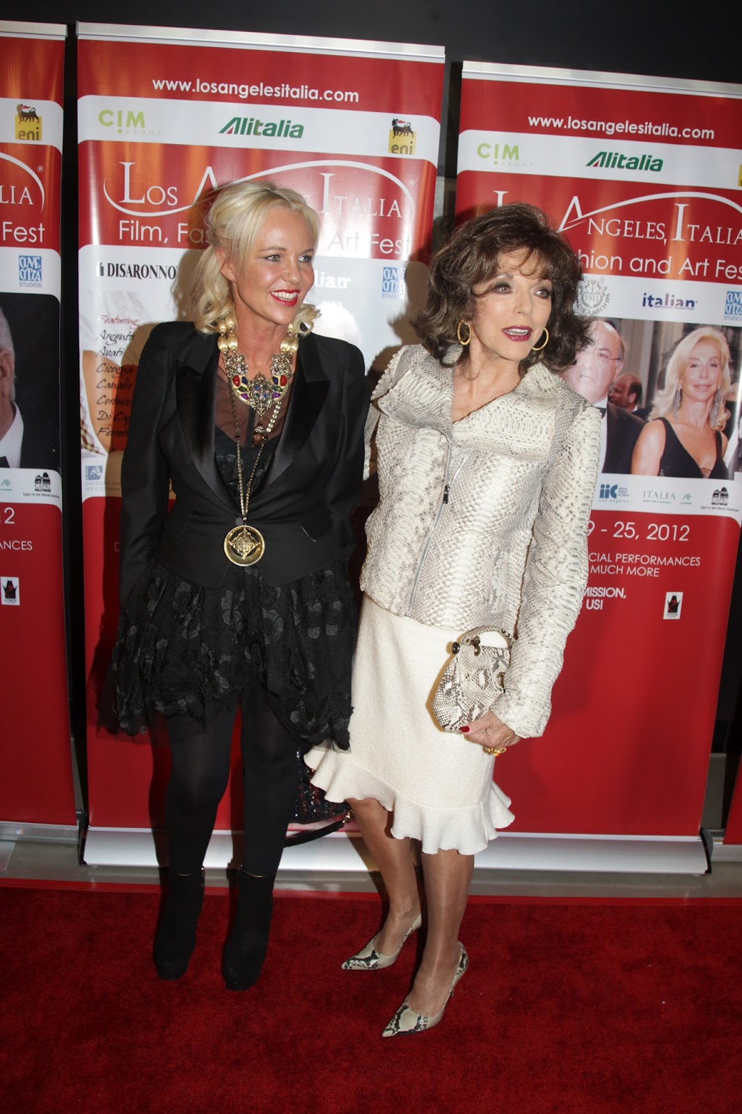 Joan Collins Boots http://amandaeliasch.blogspot.com/2012/02/genlux-party-and-joan-collins.html