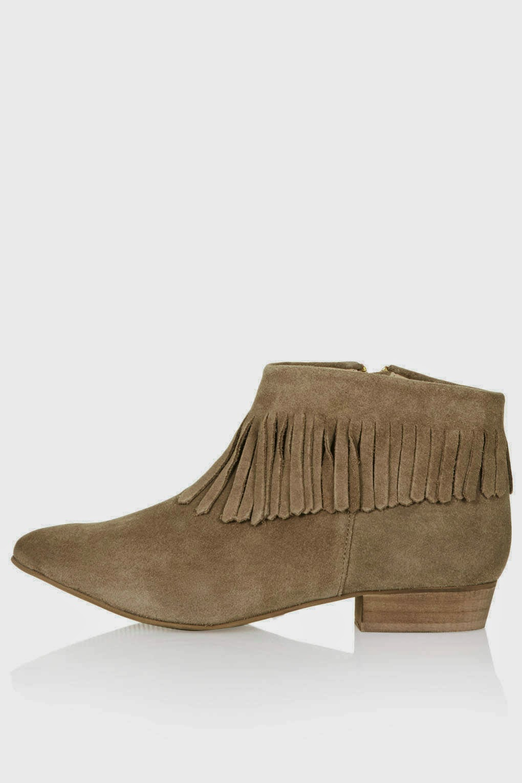 beige tassel boots