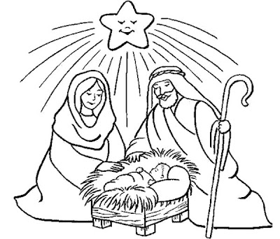 Birth of Jesus Coloring Pages for Kids