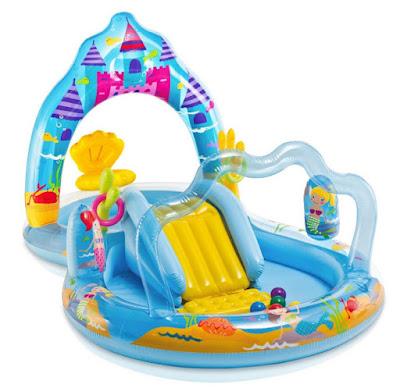 JUGUETES - Intex 57139 Mermaid Kingdom | Reino de las Sirenas Centro de juegos agua | Piscina Infantil Hinchable Producto Oficial | Verano | A partir de 2 años | Comprar en Amazon