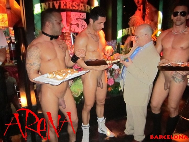 sexy naked male waiters
