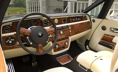"Greyson Chance New Car Rolls Royce with silver ""Leila"" dash inlay"