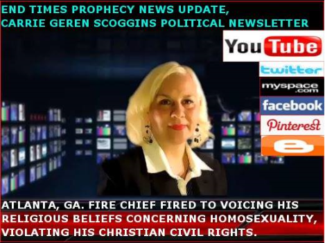 CARRIE GEREN SCOGGINS, END TIMES PROPHECY NEWS UPDATE, WEBCAST-YOUTUBE, TENNESSEE TIMES NEWS