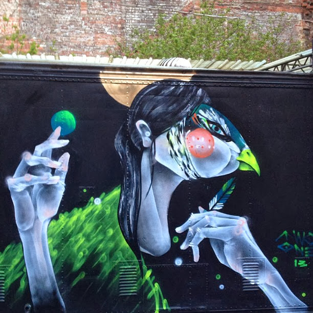 """""""You Can't Lie To Her"""" Newest Street Art Piece By TWOONE In Melbourne, Australia. 2"""
