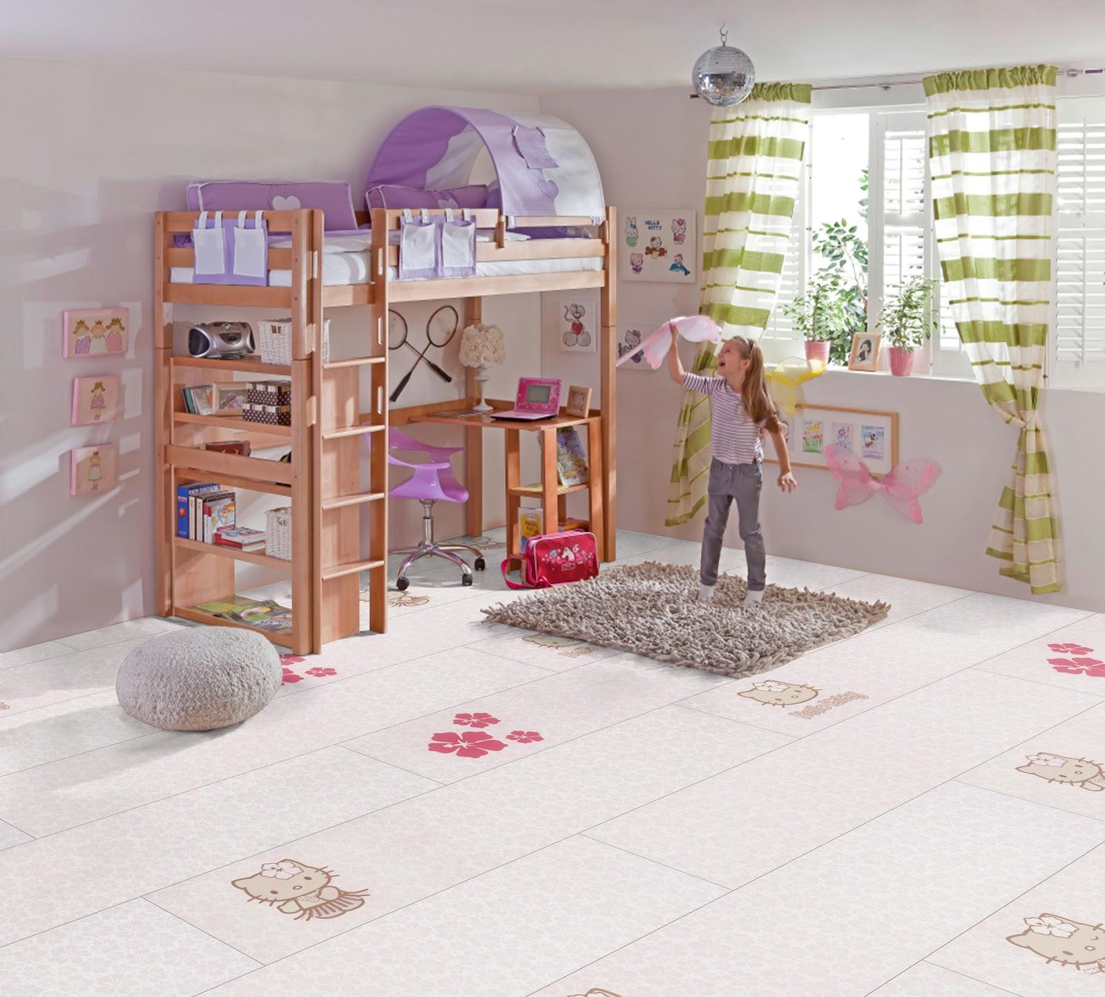 ratgeber wohnen und dekorieren: kinderzimmer: hello kitty für ... - Bodenbelag Kinderzimmer Robust