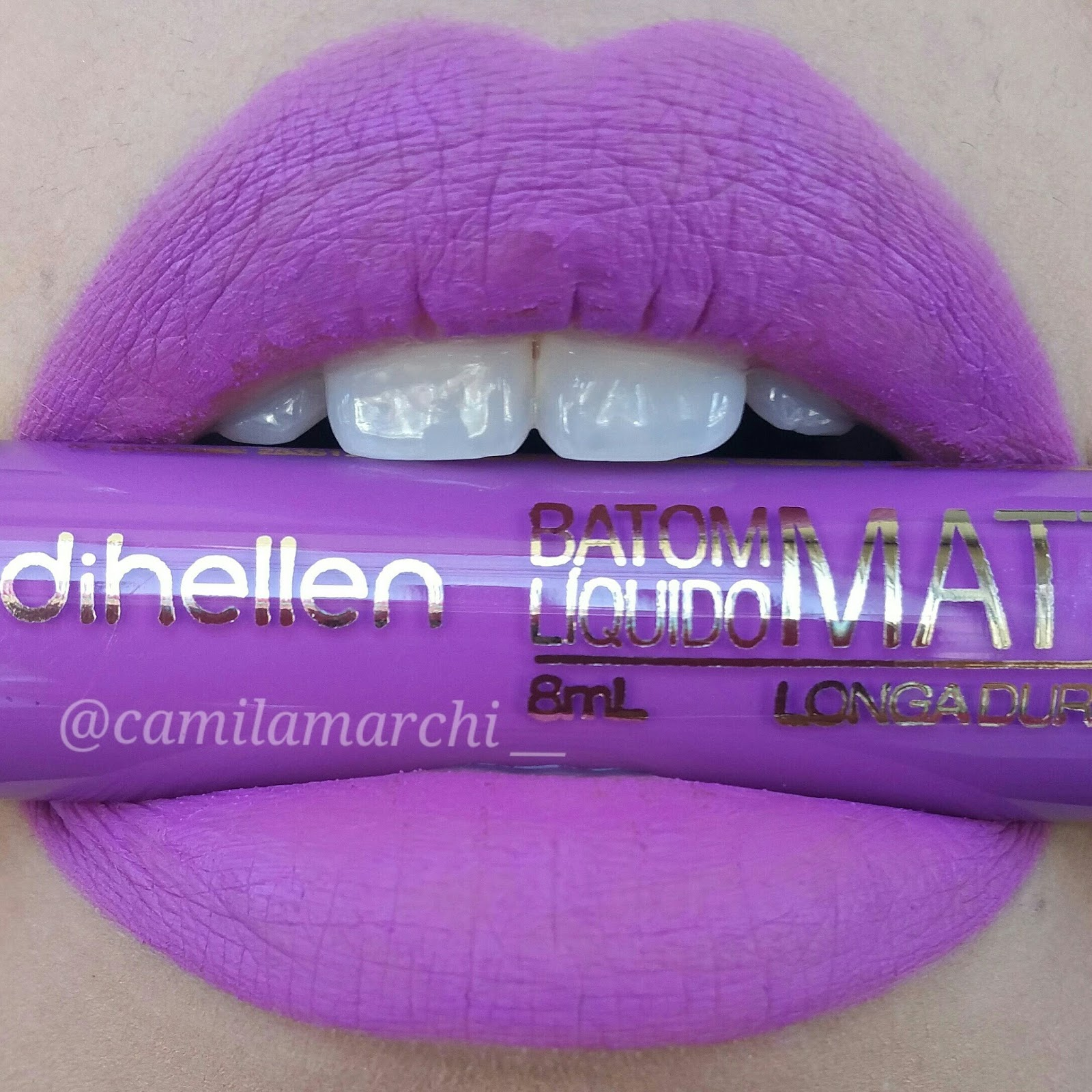 Muito Camila Marchi: Batom Líquido Matte Glamour da DiHellen MO41