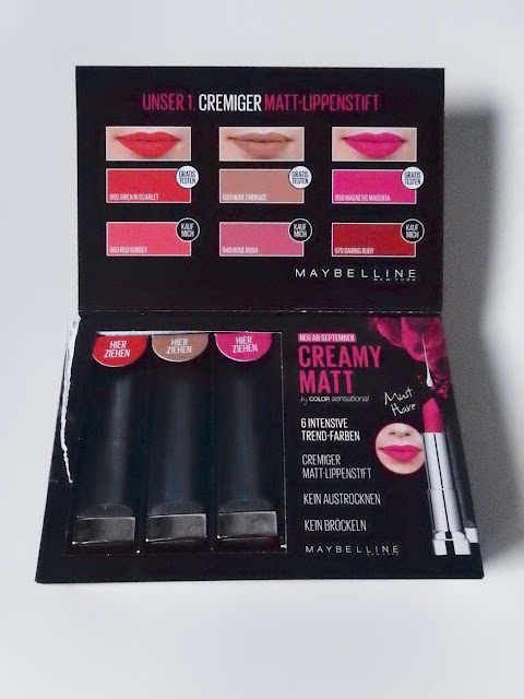 Maybelline Color Sensational Creamy Matte Lipsticks Verpackung