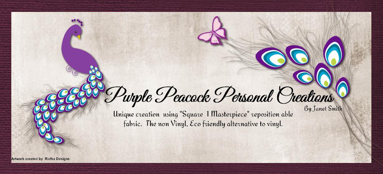 Purple peacock personal creations