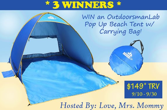 Pop Up Beach Tent Giveaway