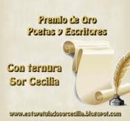 Premio de oro del Blog Estoy a tu lado de Sor Cecilia
