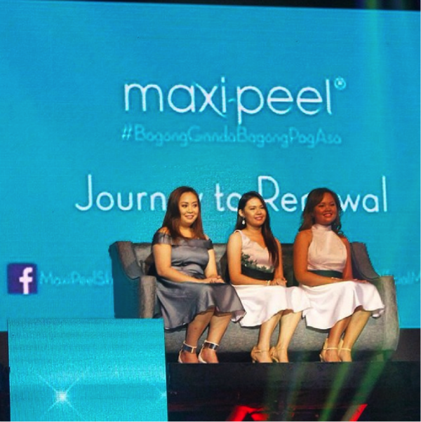 The Maxi-Peel #BagongGandaBagongPagAsa Journey to Renewal ladies go on stage with Marian Rivera