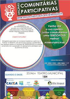 Oficinas Comunitárias do Plano de Gestão de Resíduos Sólidos dias 23 e 24/11/15