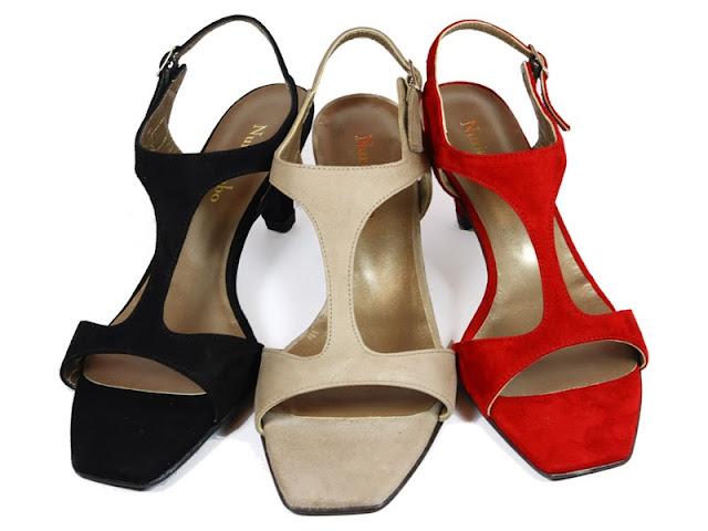 sandalias con tacón de diseño