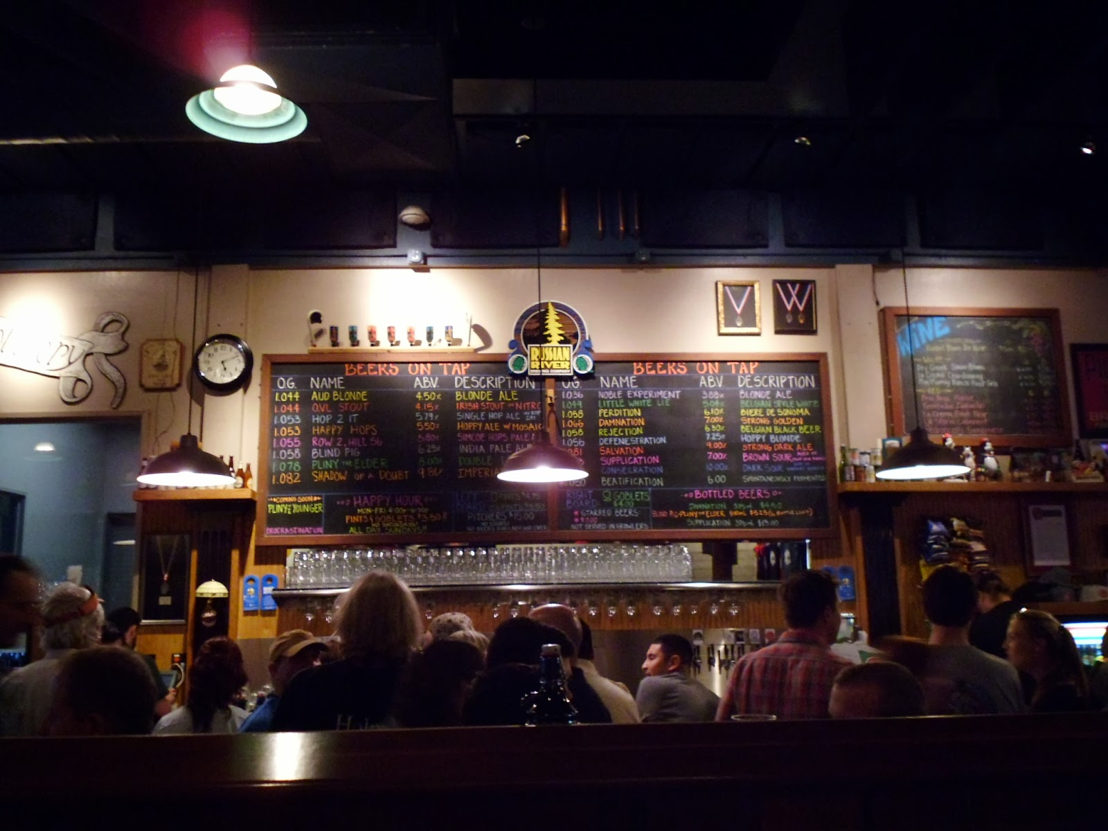 Russian River bar menu