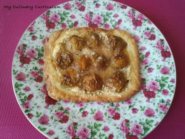 my culinary curriculum et hop une tartelette aux reines claudes