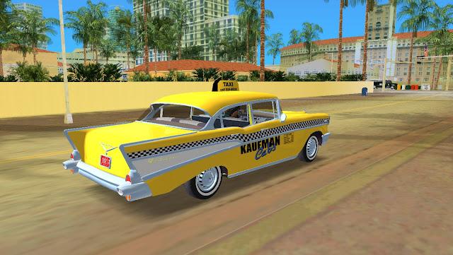 Chevrolet Bel Air 4 Door Sedan Taxi 1957 GTA Vice City