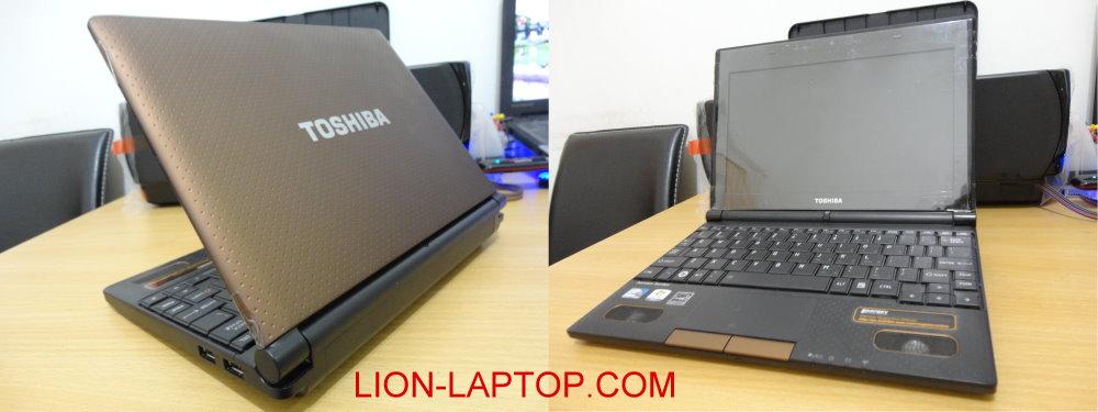 Netbook TOSHIBA NB520 Warna Coklat Laptop Bekas Malang