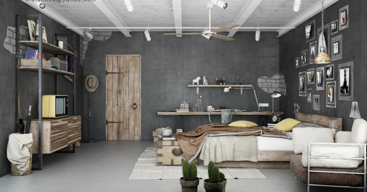 Nice Industrial Bedrooms Interior Design | Interior Decorating, Home Design, Room  Ideas