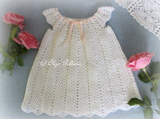 Crochet Baby Dress Pattern, Size 12-18 Months, $3.65