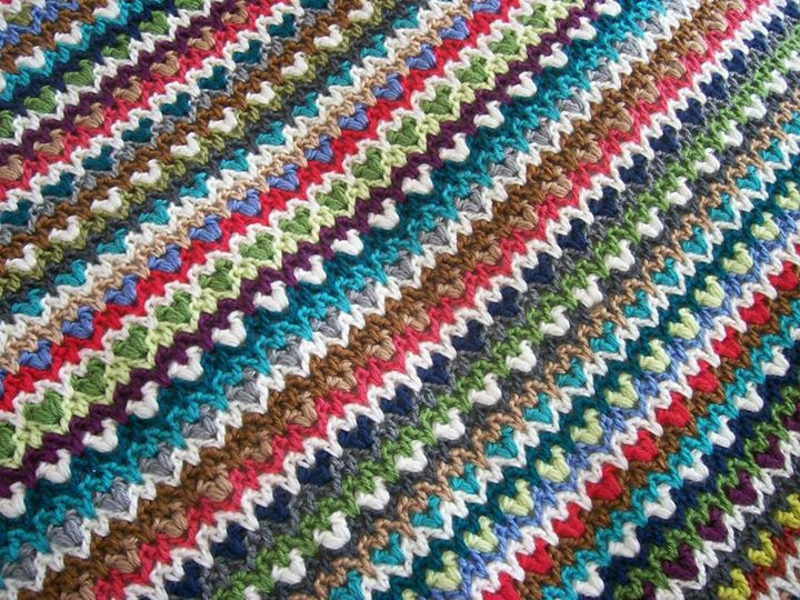 Boho Crochet Patterns : Crochet between worlds: Free Pattern: Boho Chic Blanket (Translation)
