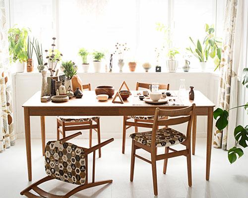 Einrichten mit Mustern im skandinavischen Stil
