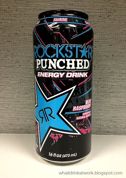 what i drink at work rockstar punched blue raspberry energy drink review. Black Bedroom Furniture Sets. Home Design Ideas