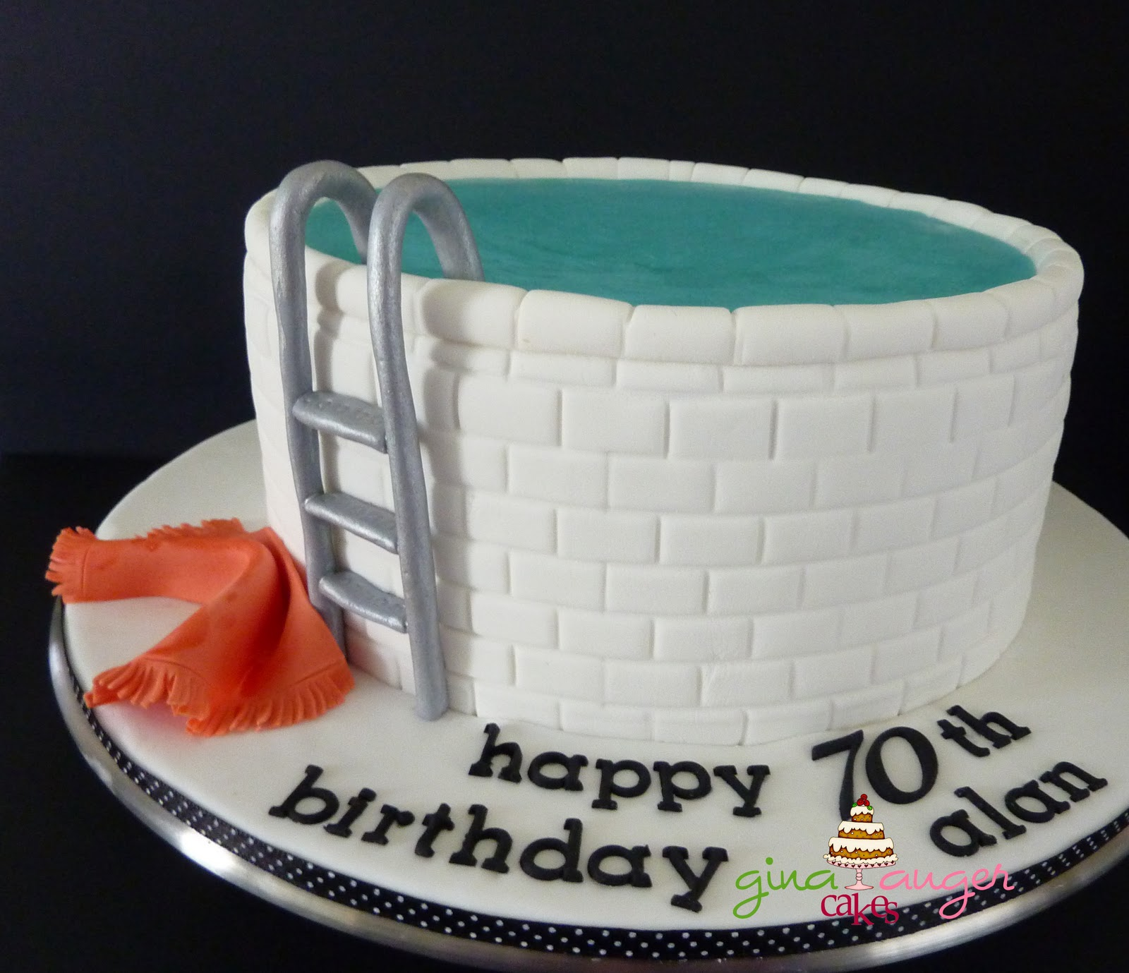 Top That Dive in Alans 70th Birthday Cake