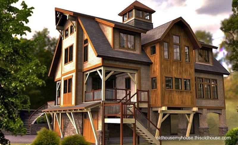 Arquitectura de casas casas granero en los estados unidos for Old barn style house plans