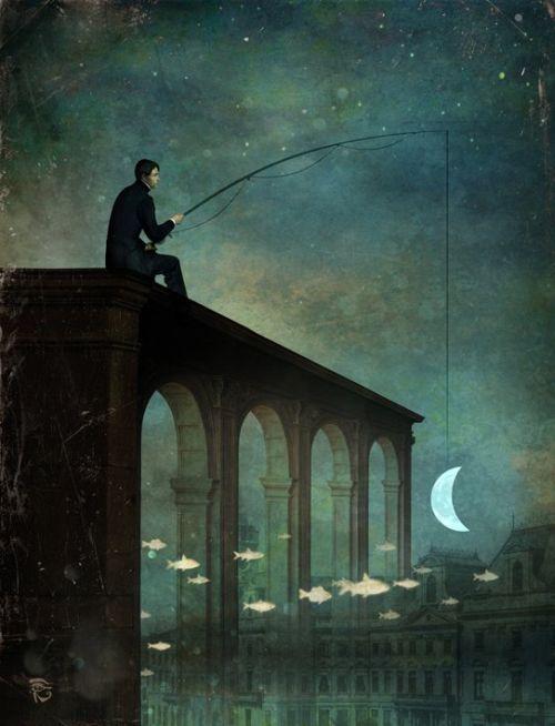 Christian Schloe ilustração digital surreal onírica sonhos O rio