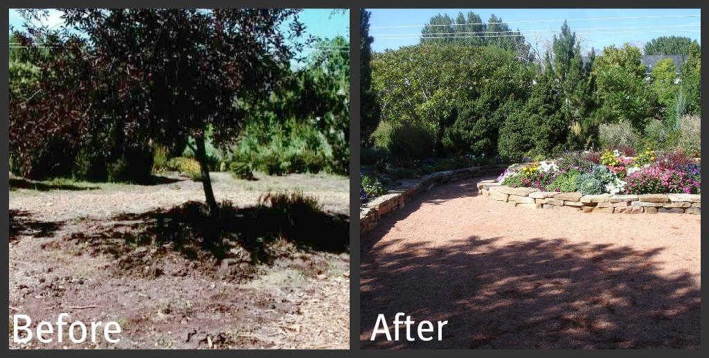 Ogden botanical gardens september 2011 for Red rock for flower beds