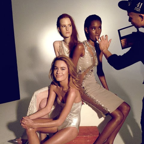 Camille Rowe, Magdalena Jasek & Ysaunny Brito Elle Magazine Brazil February 2014