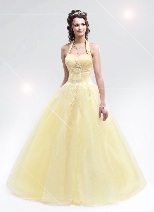 Hot Yellow Prom Dresses 31