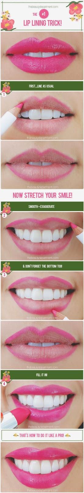 cara memakai pensil bibir