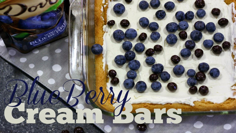 #ad Blueberry Cream Bars with Dove Fruit #LoveDoveFruit #cbias