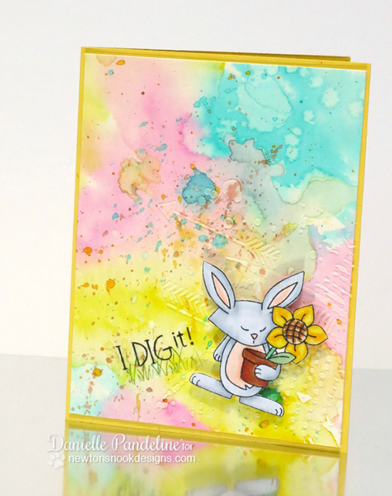I dig it Bunny Garden card by Danielle Pandeline | Garden Whimsy | Garden Stamp Set by Newton's Nook Designs